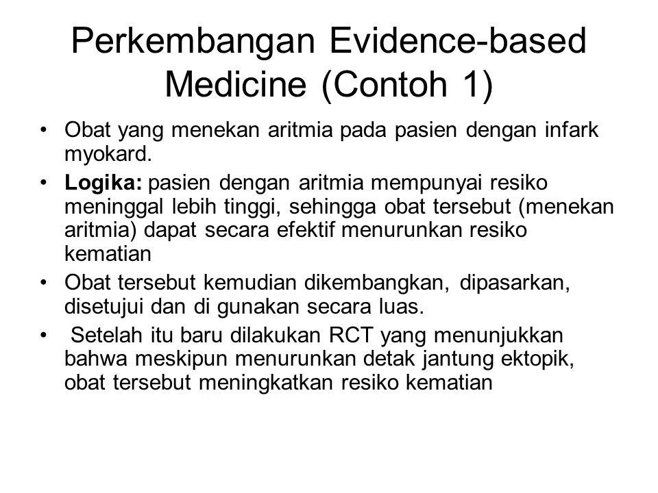 Perkembangan Evidence-based Medicine (Contoh 1)