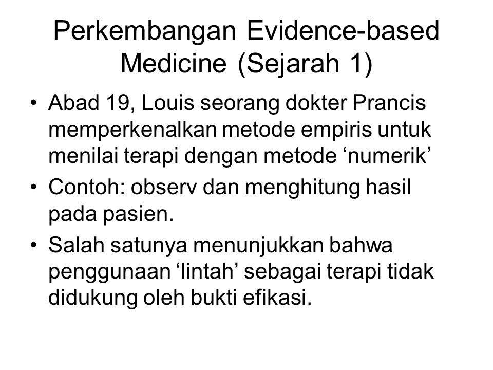 Perkembangan Evidence-based Medicine (Sejarah 1)