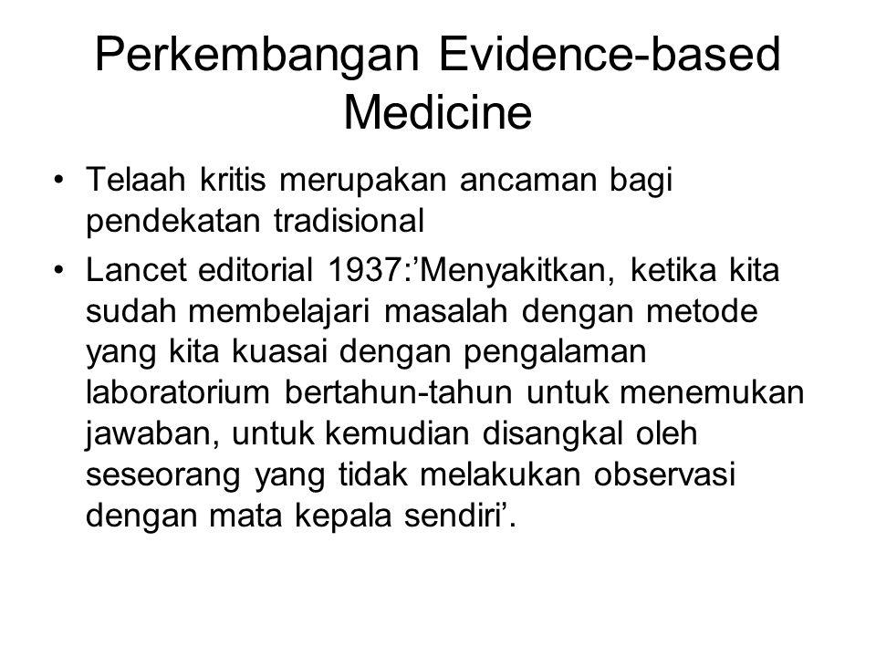 Perkembangan Evidence-based Medicine