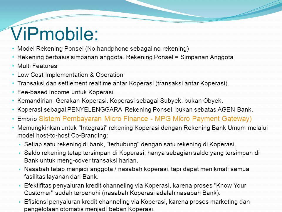 ViPmobile: Model Rekening Ponsel (No handphone sebagai no rekening)