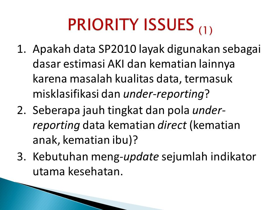 PRIORITY ISSUES (1)