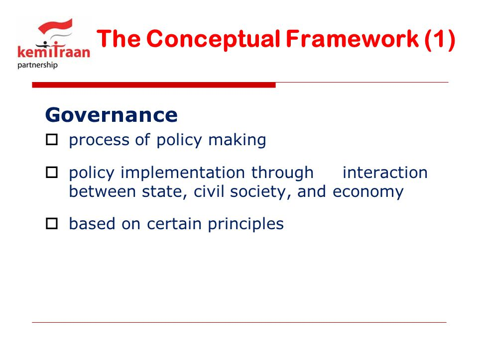 The Conceptual Framework (1)