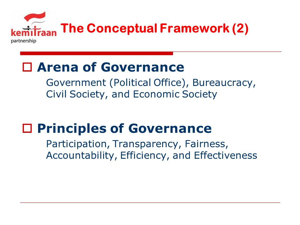 The Conceptual Framework (2)