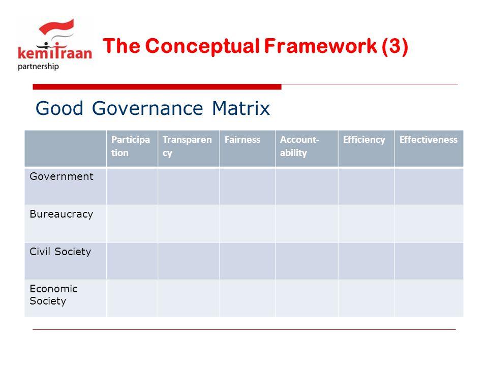 The Conceptual Framework (3)