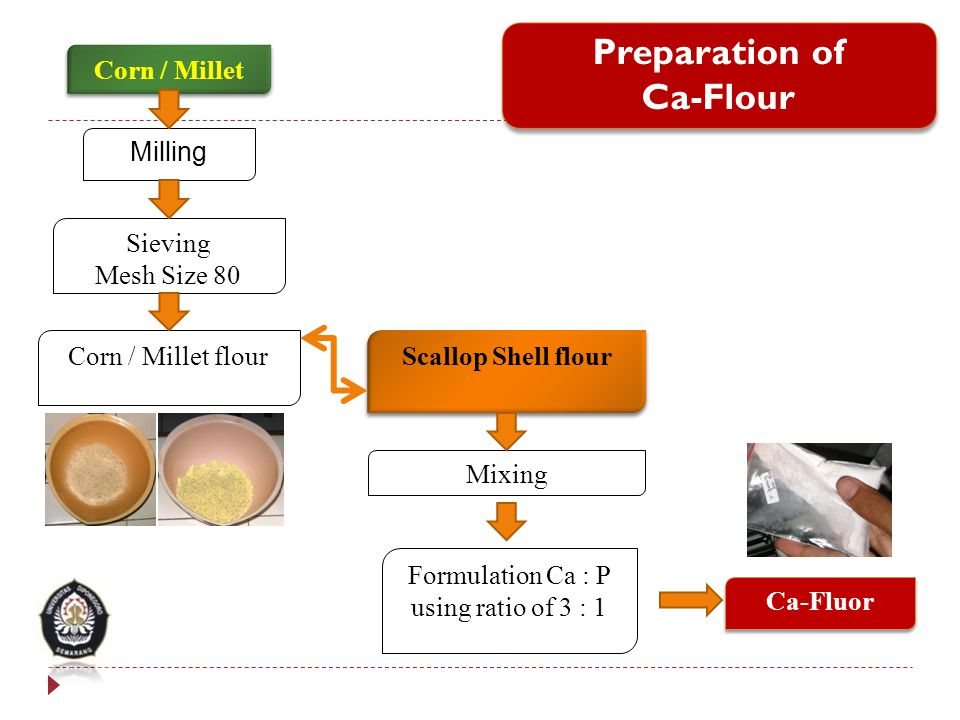 Preparation of Ca-Flour