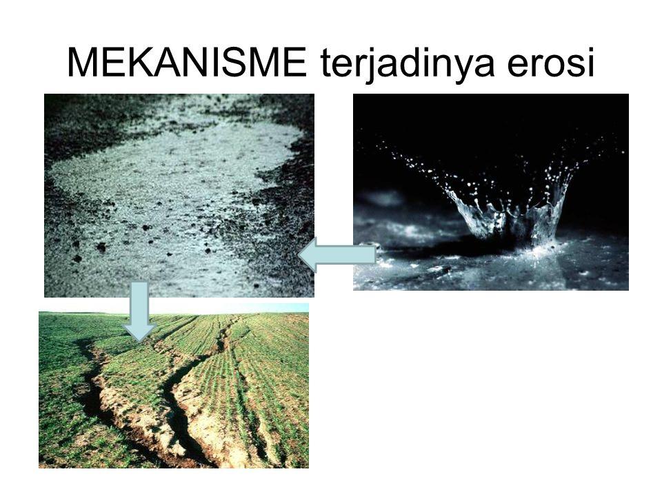 MEKANISME terjadinya erosi