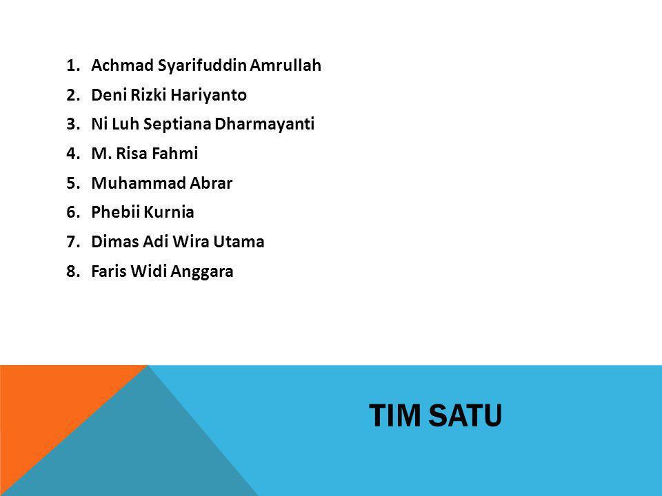 TIM SATU Achmad Syarifuddin Amrullah Deni Rizki Hariyanto