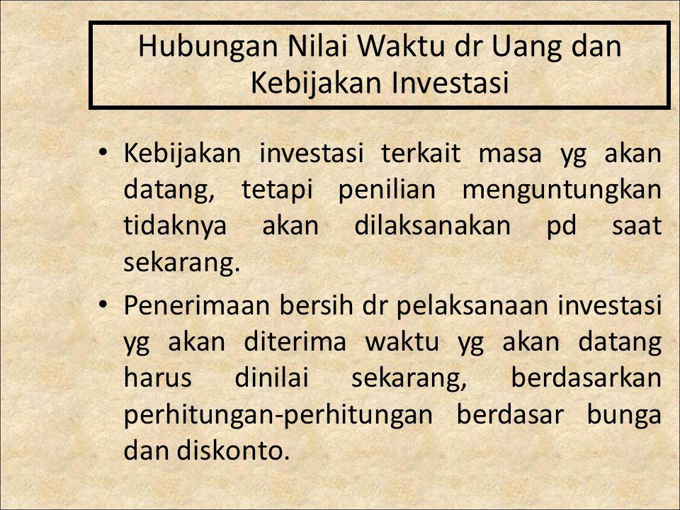 Hubungan Nilai Waktu dr Uang dan Kebijakan Investasi