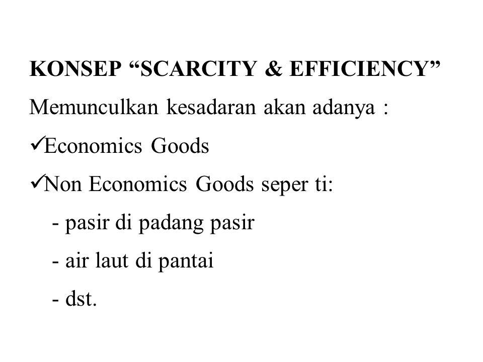 KONSEP SCARCITY & EFFICIENCY