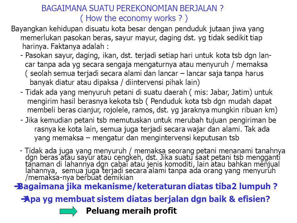 BAGAIMANA SUATU PEREKONOMIAN BERJALAN ( How the economy works )