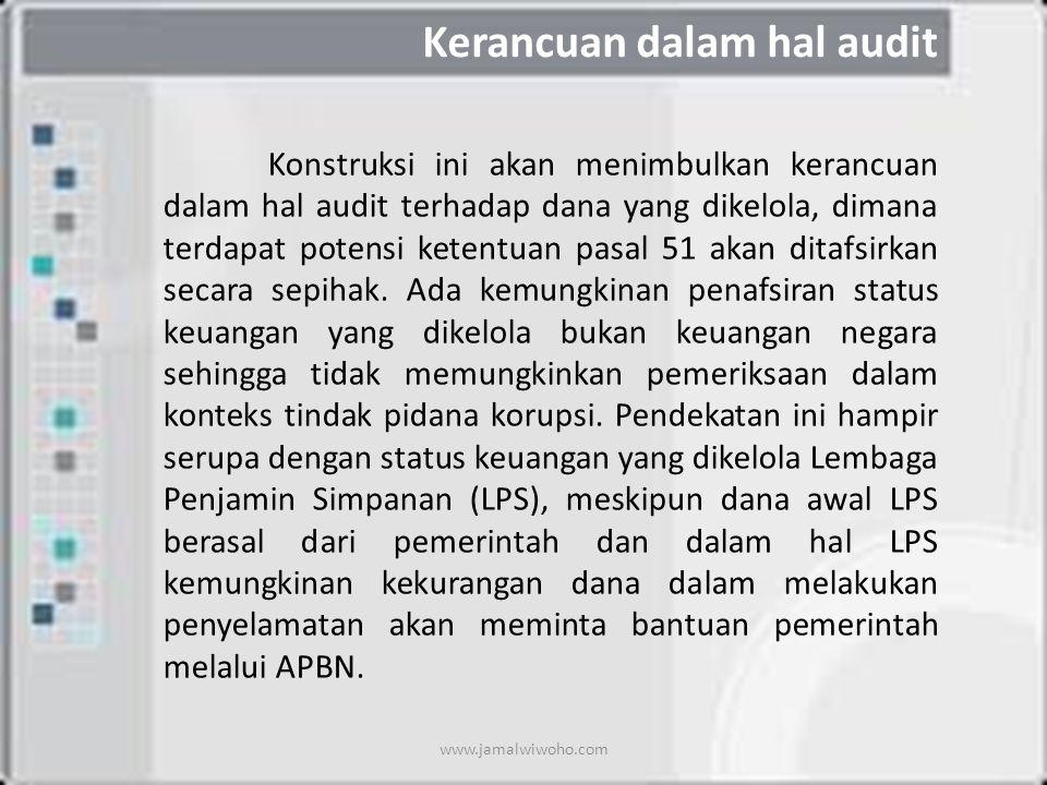 Kerancuan dalam hal audit