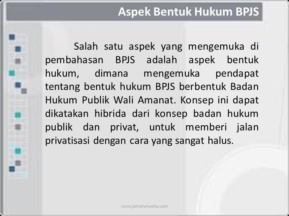 Aspek Bentuk Hukum BPJS