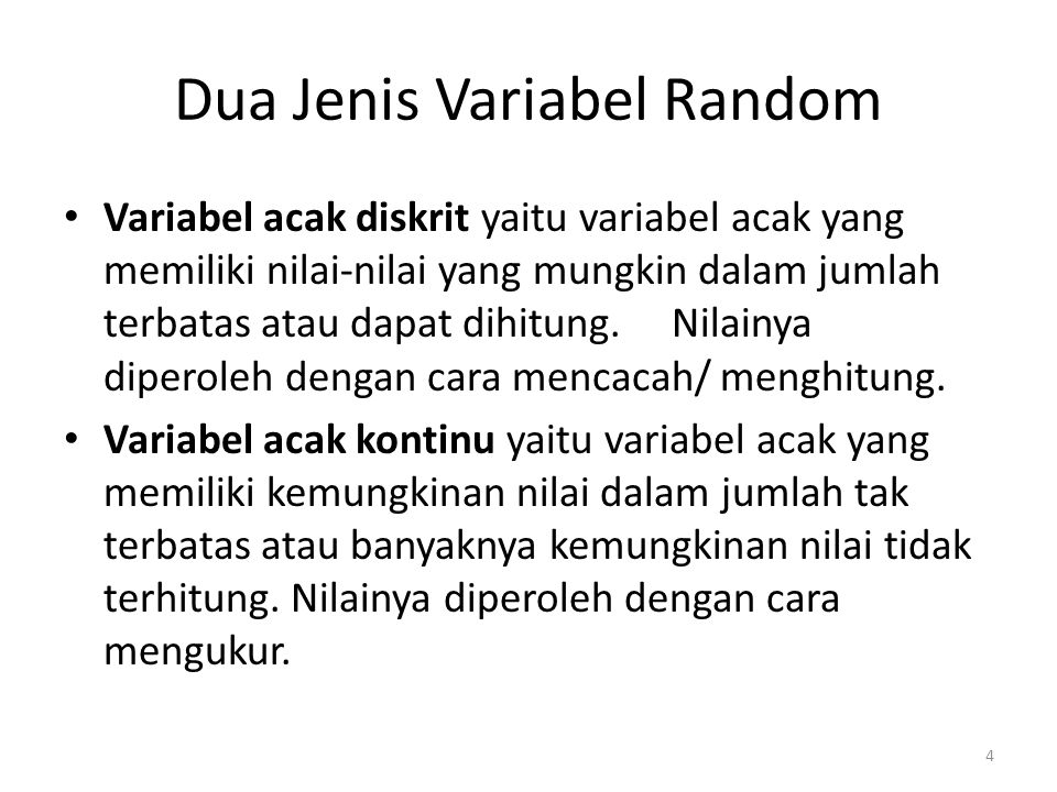 Dua Jenis Variabel Random