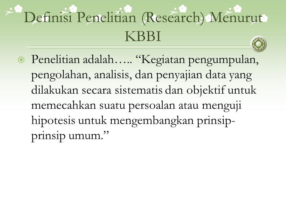 Definisi Penelitian (Research) Menurut KBBI