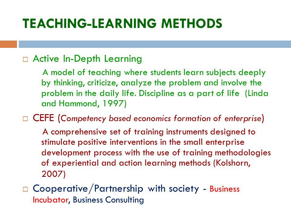 TEACHING-LEARNING METHODS