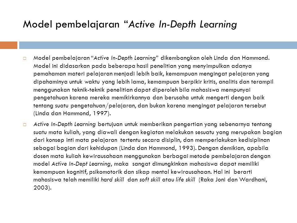 Model pembelajaran Active In-Depth Learning