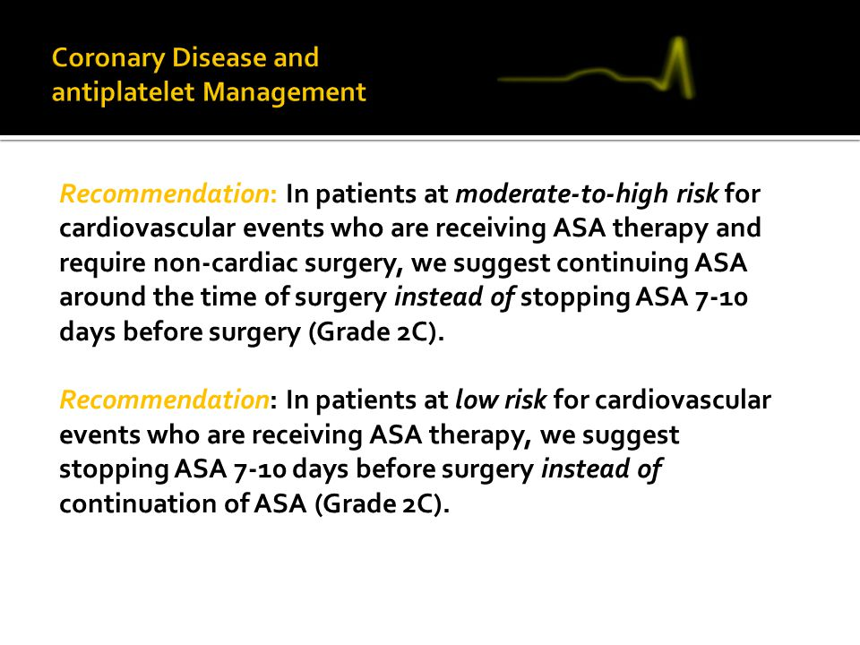 Coronary Disease and antiplatelet Management