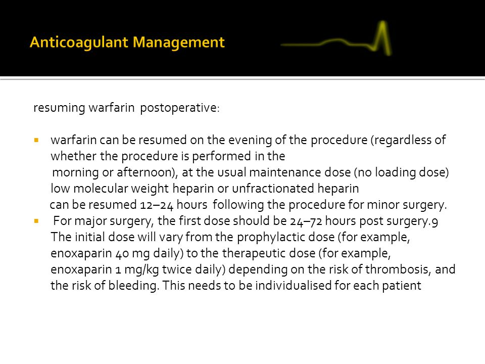 Anticoagulant Management