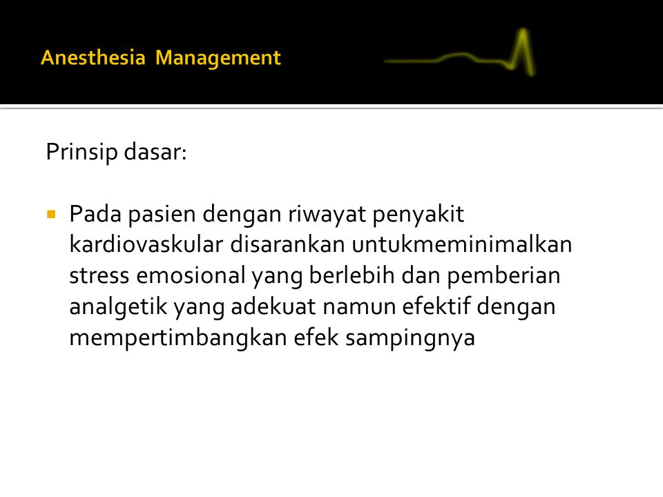Anesthesia Management