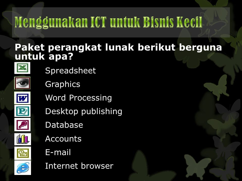 Menggunakan ICT untuk Bisnis Kecil