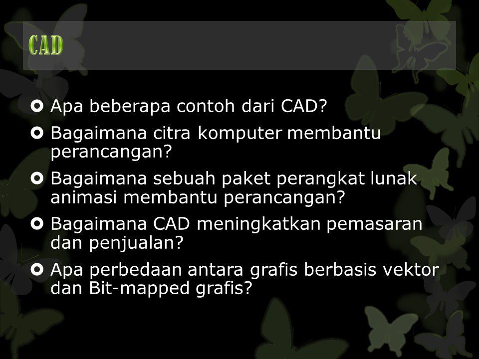CAD Apa beberapa contoh dari CAD