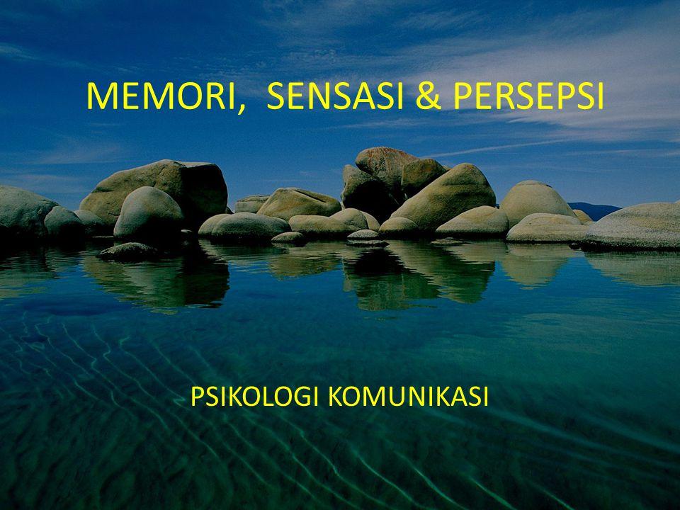 MEMORI, SENSASI & PERSEPSI