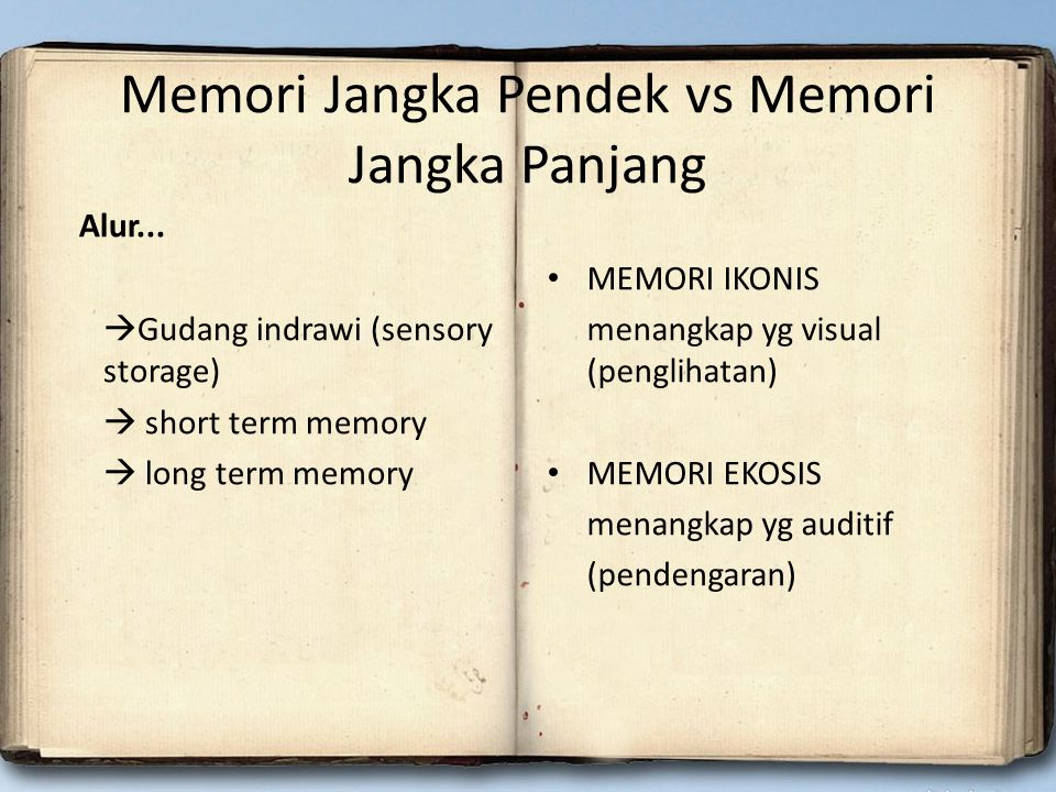 Memori Jangka Pendek vs Memori Jangka Panjang