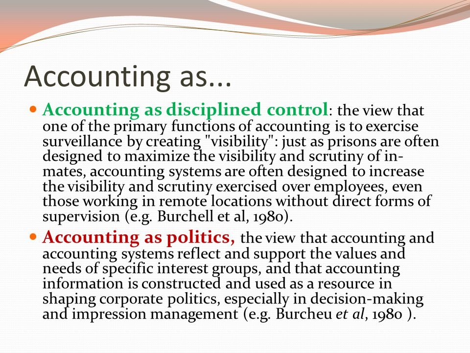 Accounting as...