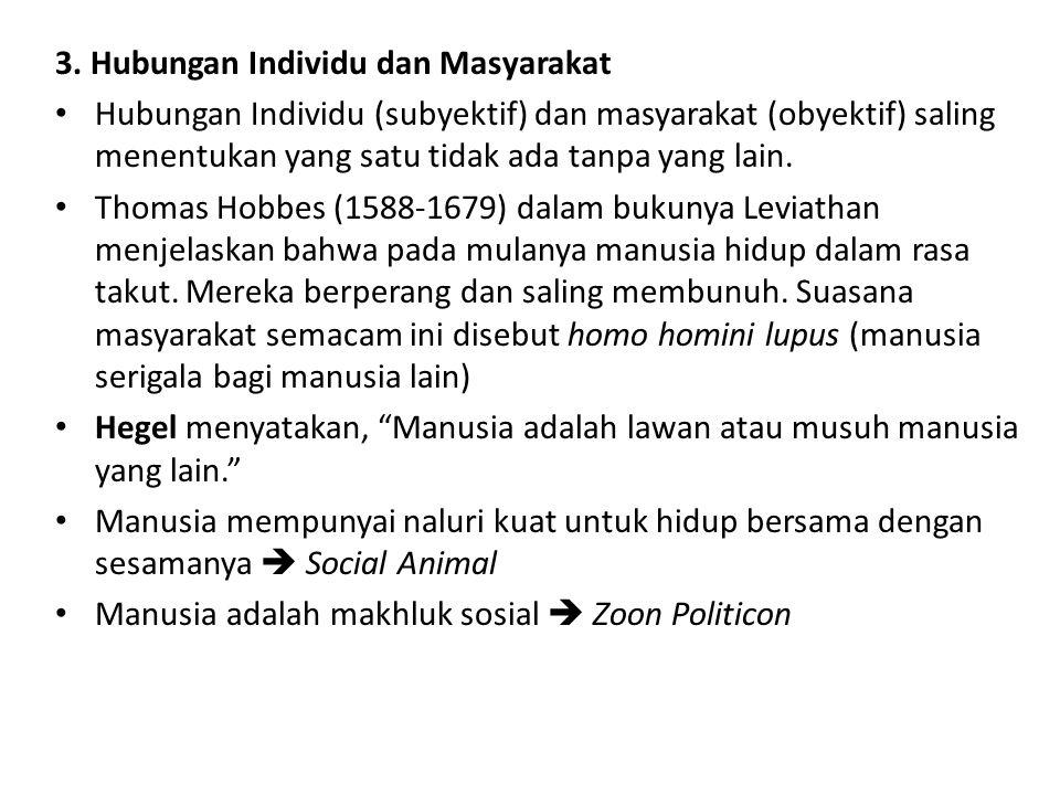 3. Hubungan Individu dan Masyarakat
