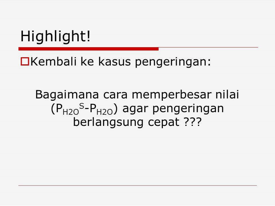 Highlight! Kembali ke kasus pengeringan: