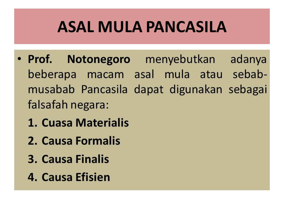 ASAL MULA PANCASILA