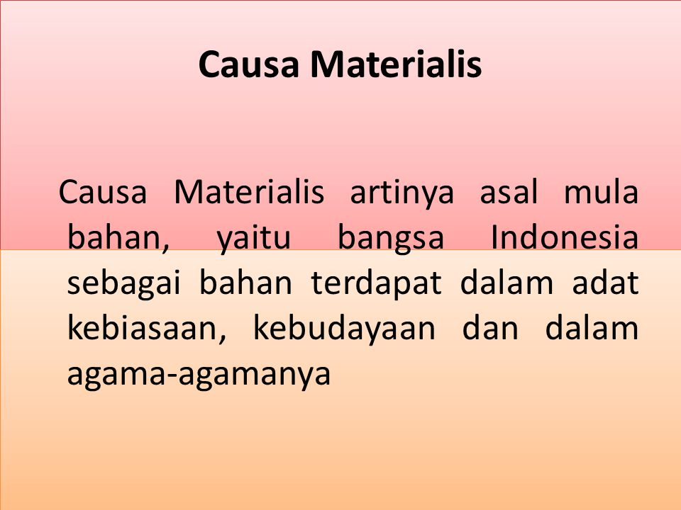 Causa Materialis