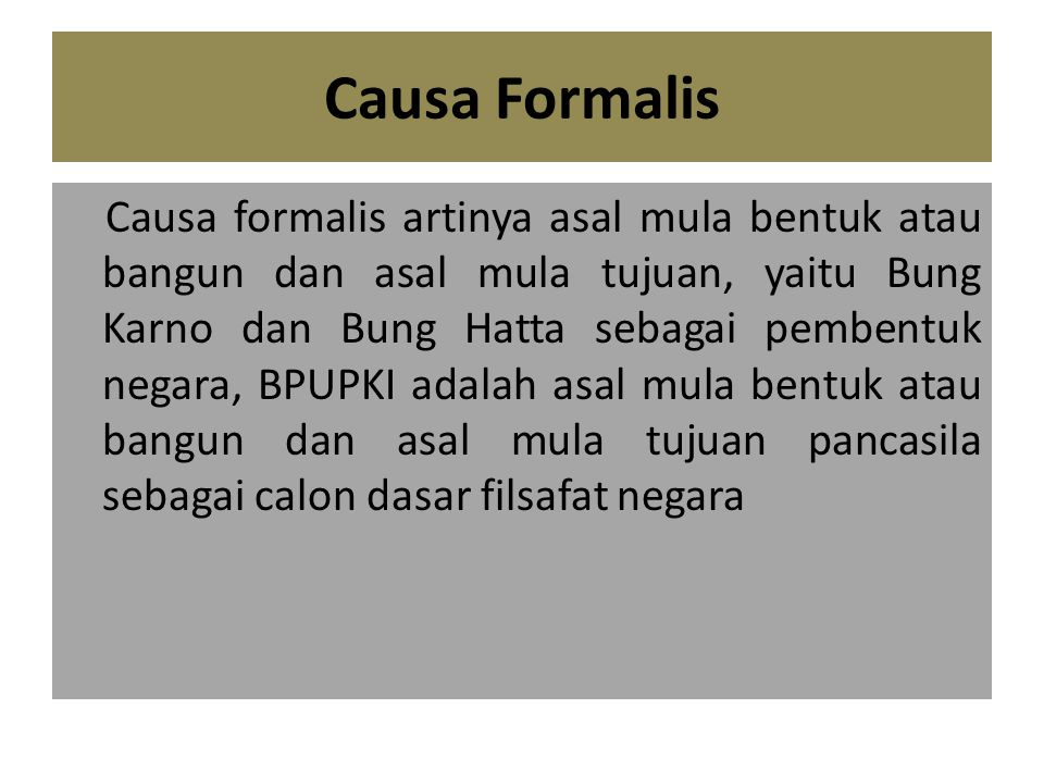 Causa Formalis