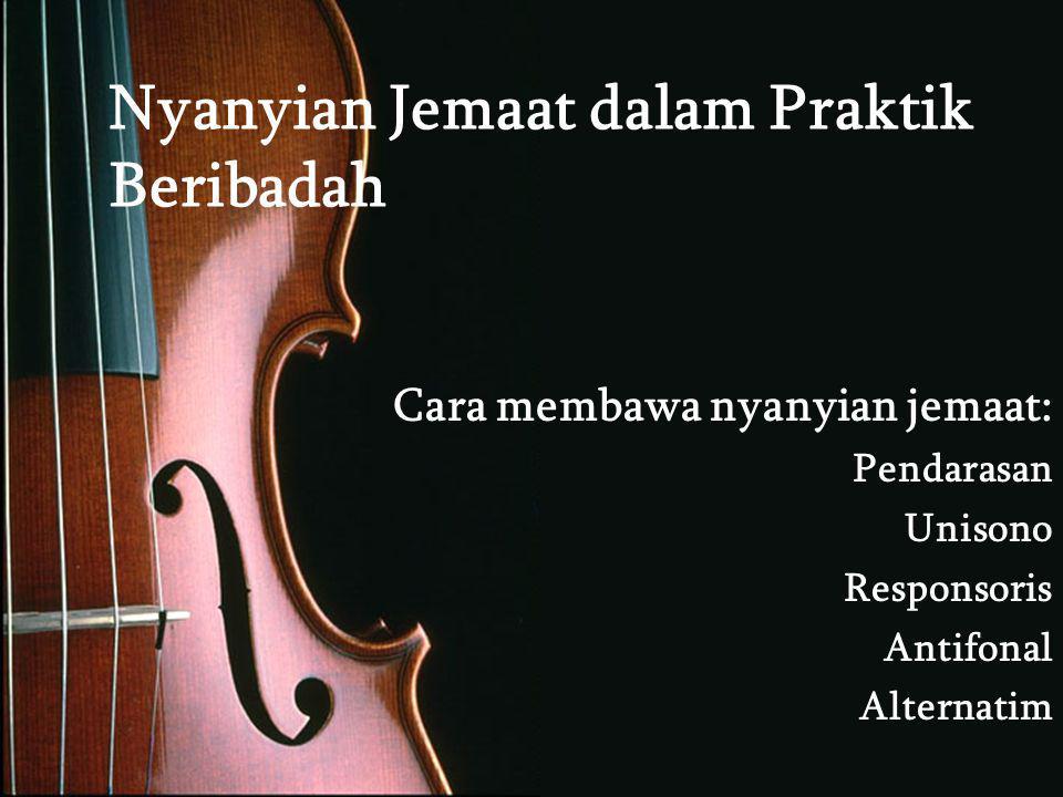 Nyanyian Jemaat dalam Praktik Beribadah