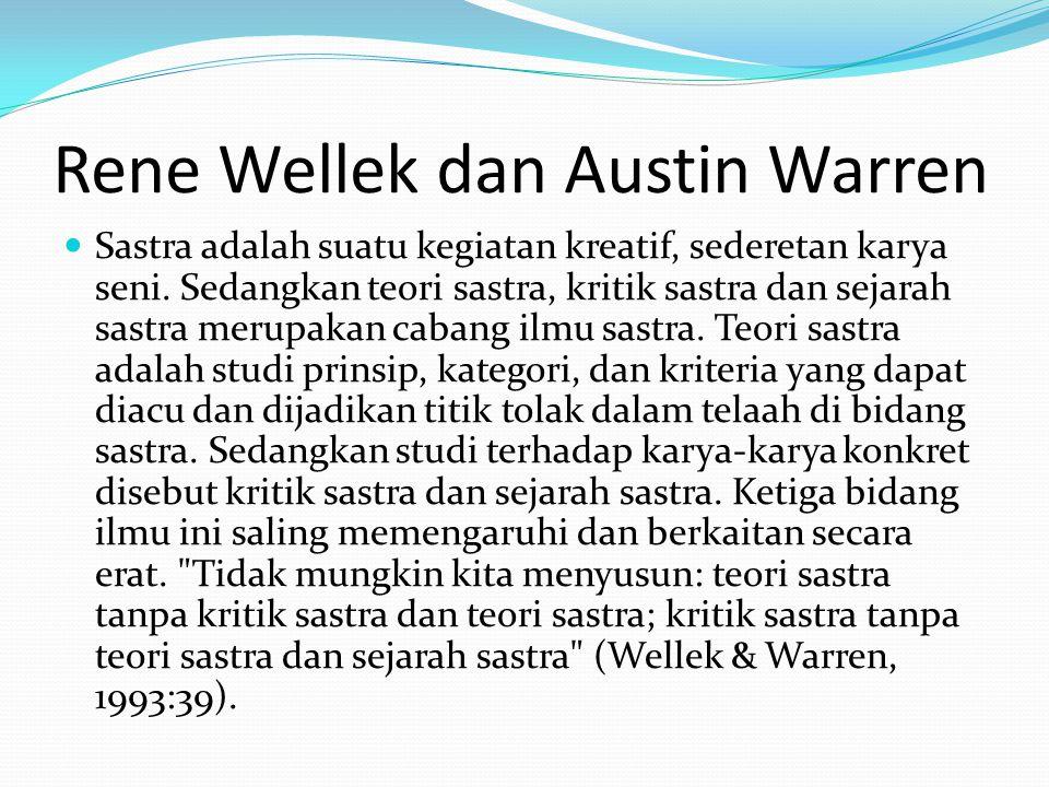 Rene Wellek dan Austin Warren
