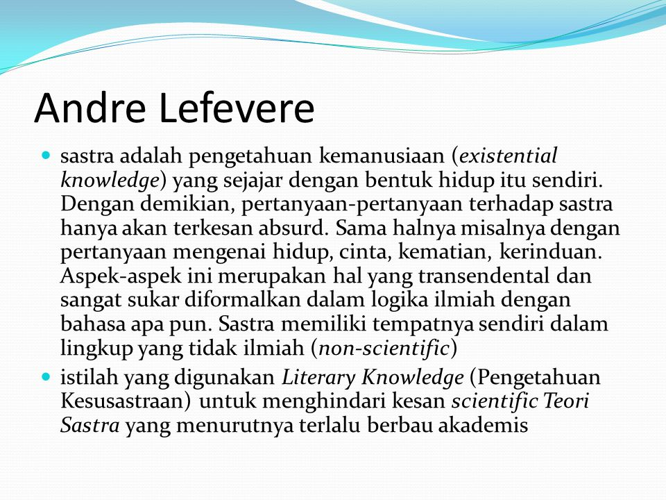 Andre Lefevere
