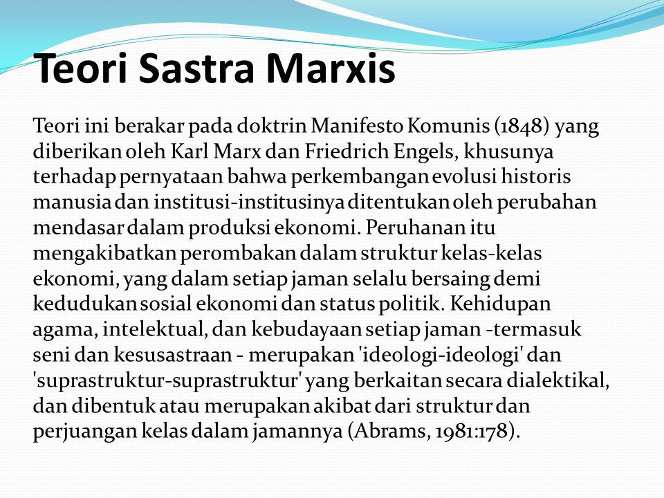 Teori Sastra Marxis