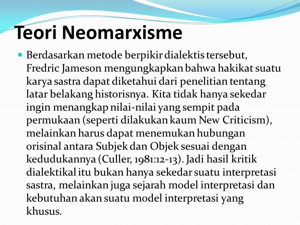 Teori Neomarxisme