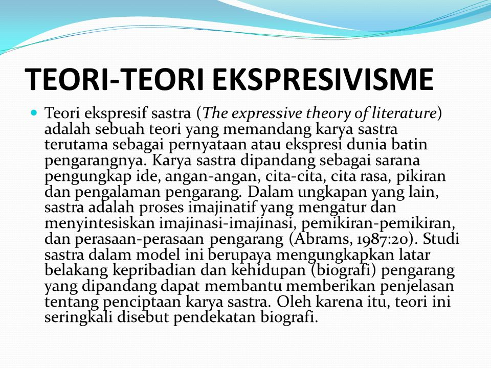 TEORI-TEORI EKSPRESIVISME