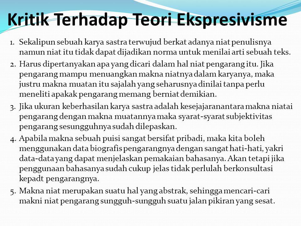 Kritik Terhadap Teori Ekspresivisme