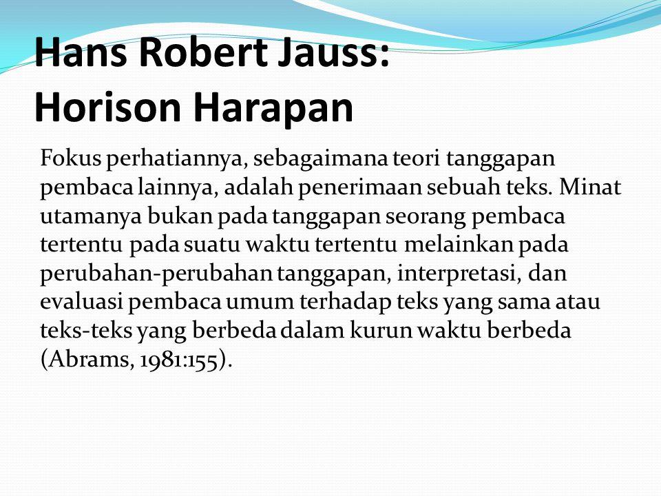 Hans Robert Jauss: Horison Harapan