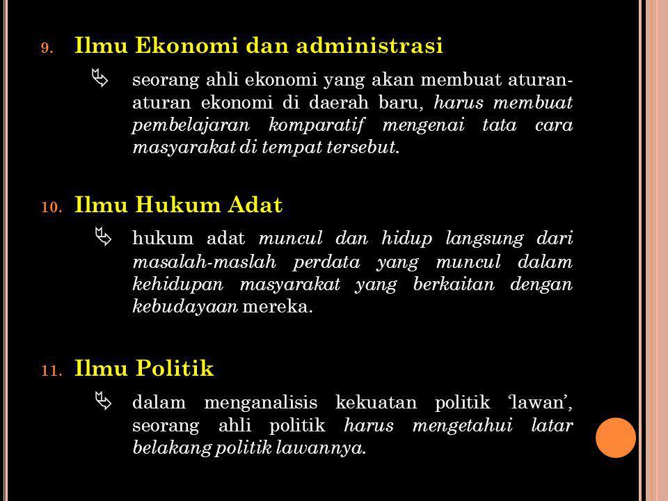 Ilmu Ekonomi dan administrasi