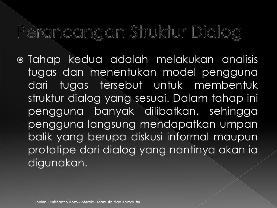 Perancangan Struktur Dialog