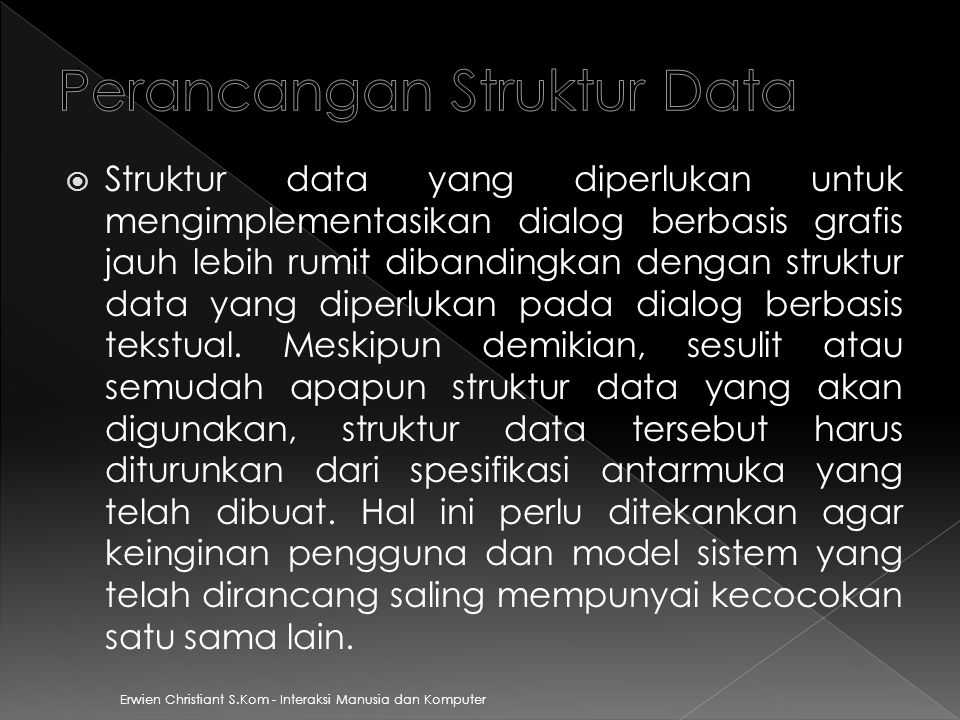 Perancangan Struktur Data