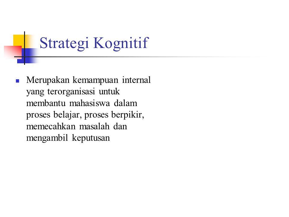 Strategi Kognitif