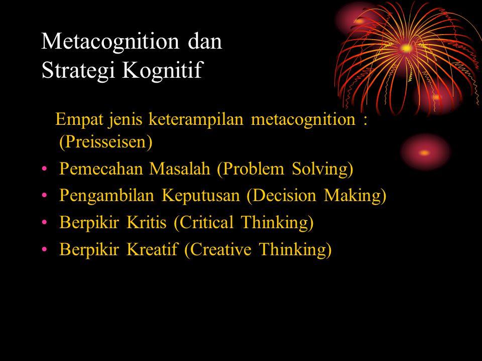 Metacognition dan Strategi Kognitif
