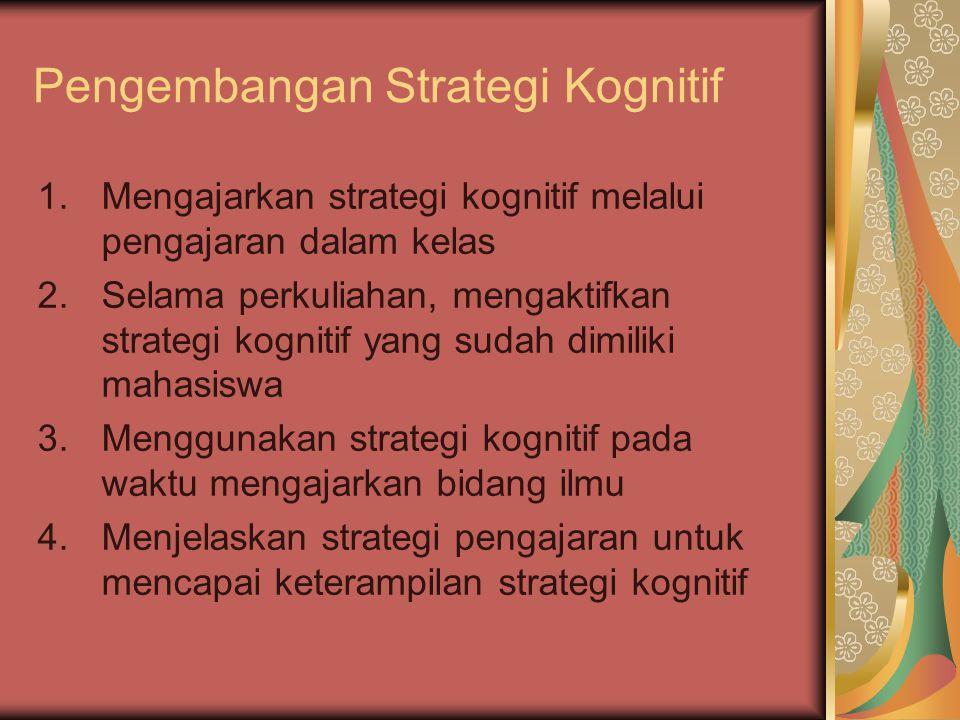 Pengembangan Strategi Kognitif
