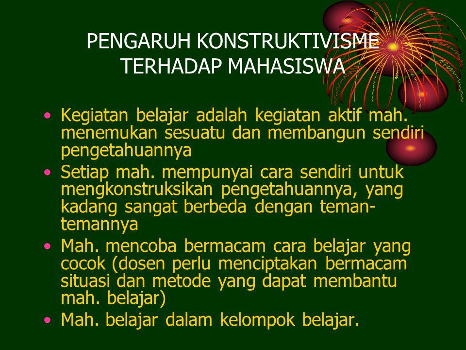 PENGARUH KONSTRUKTIVISME TERHADAP MAHASISWA