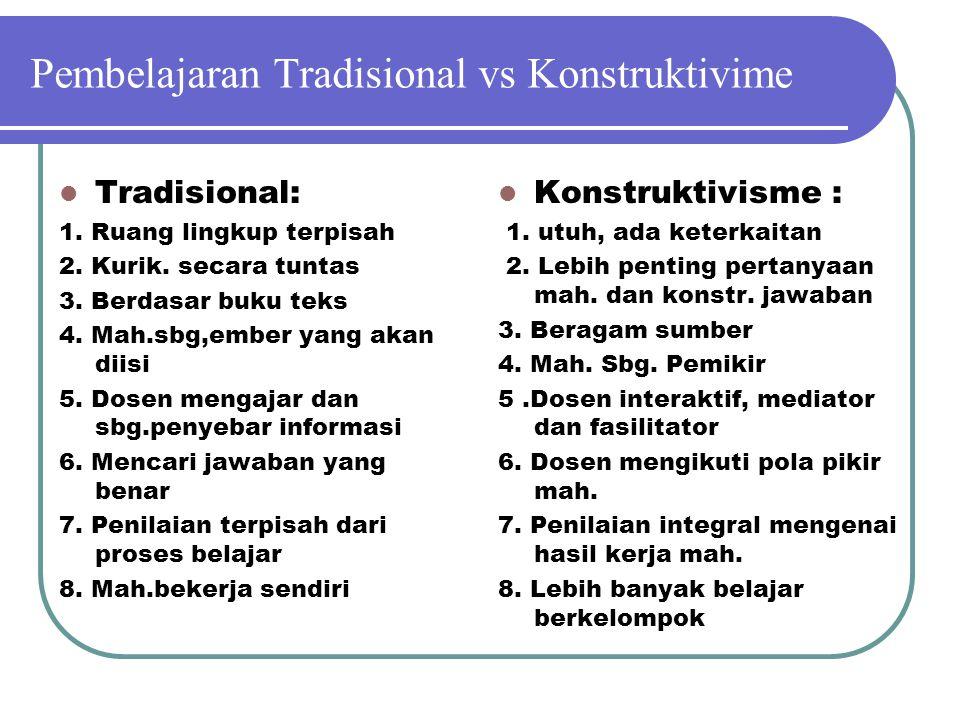 Pembelajaran Tradisional vs Konstruktivime