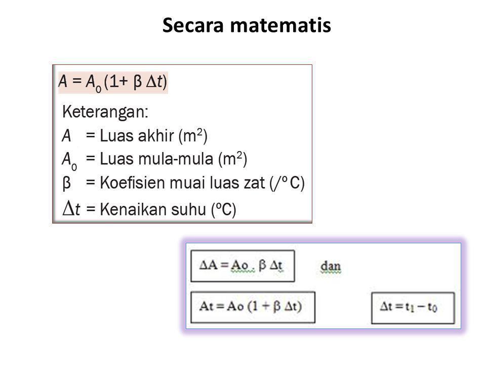 Secara matematis